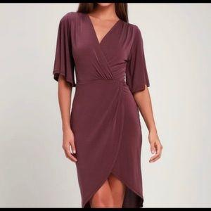 Lulus dulcet burgundy dress sz s